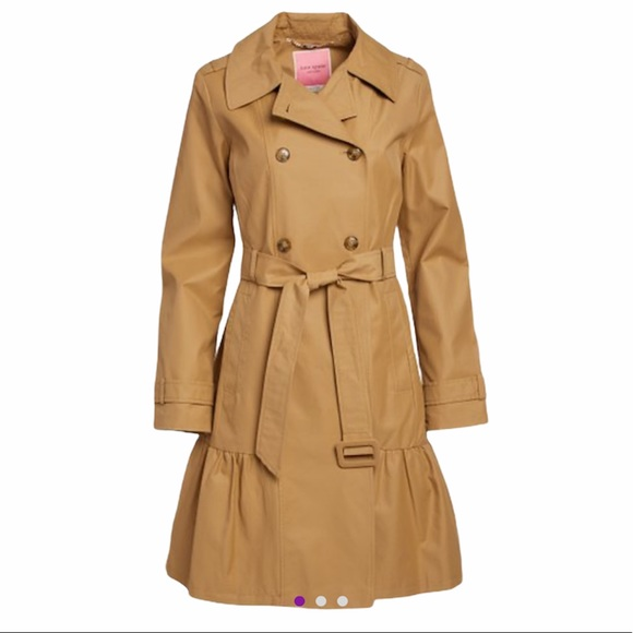 Kate Spade New French Khaki Belted Trench Coat NWT